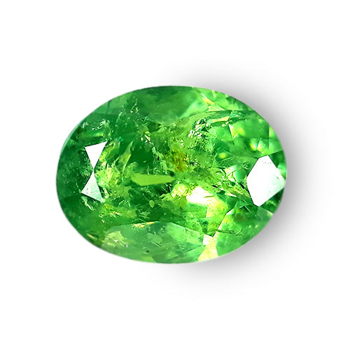 1.08 cts Spectacular Natural Demantoid Garnet Oval Loose Gemstone - Redstargems
