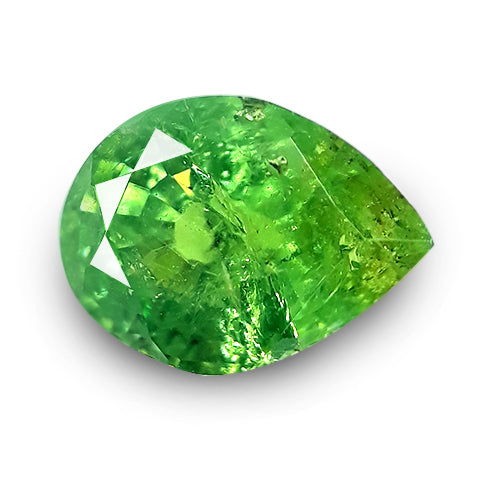 Rare! Natural Yellowish Green Demantoid Garnet 1.05 Cts - Redstargems