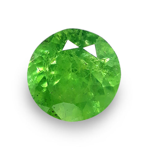 1.05 Carats Demantoid Garnet Gemstone Loose Natural Round Shape - Redstargems