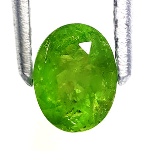 Demantoid Garnet Gemstone Loose Natural Oval Facetted Yellowish Green - Redstargems