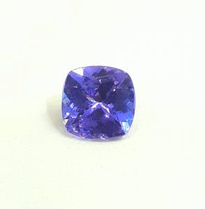 Natural tanzanite loose gemstone cushion cut 8 mm - Redstargems