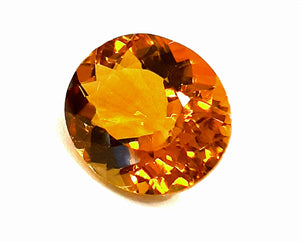 Golden yellow citrine loose gemstone oval facetted - Redstargems
