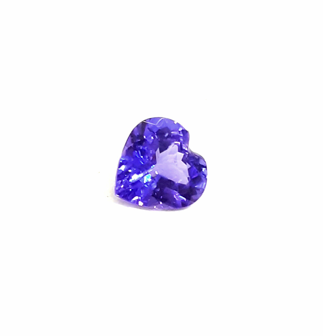 Tanzanite gemstone heart purple blue 1.35 carats - Redstargems