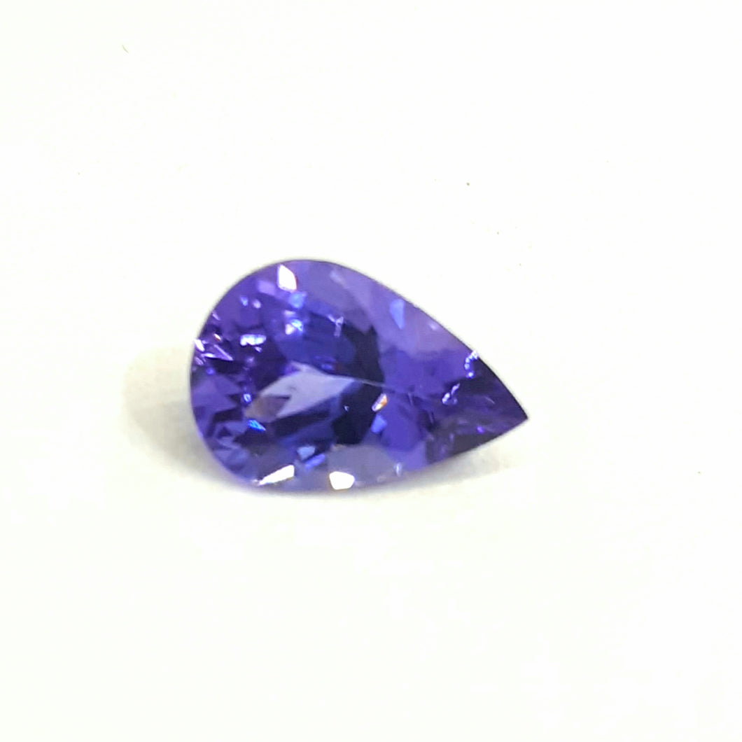 Tanzanite pear shape purplish blue loose gemstone 1.80 carats - Redstargems
