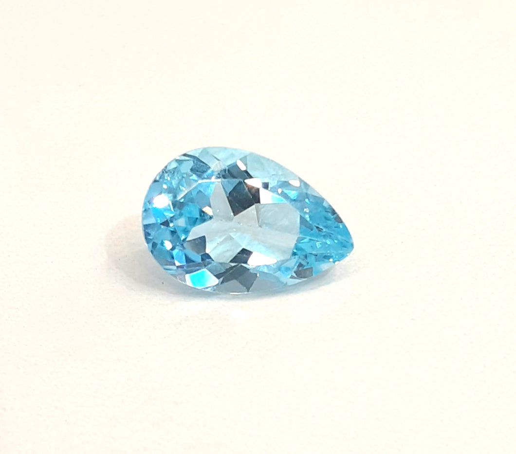 Natural light blue aqua color topaz gemstone pear shape - Redstargems