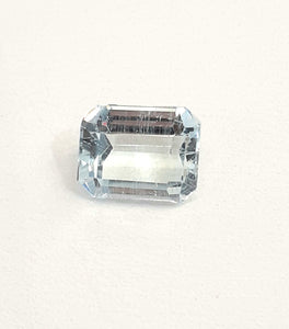 Aquamarine gemstone octagon cut 1.55 carats natural loose gem - Redstargems