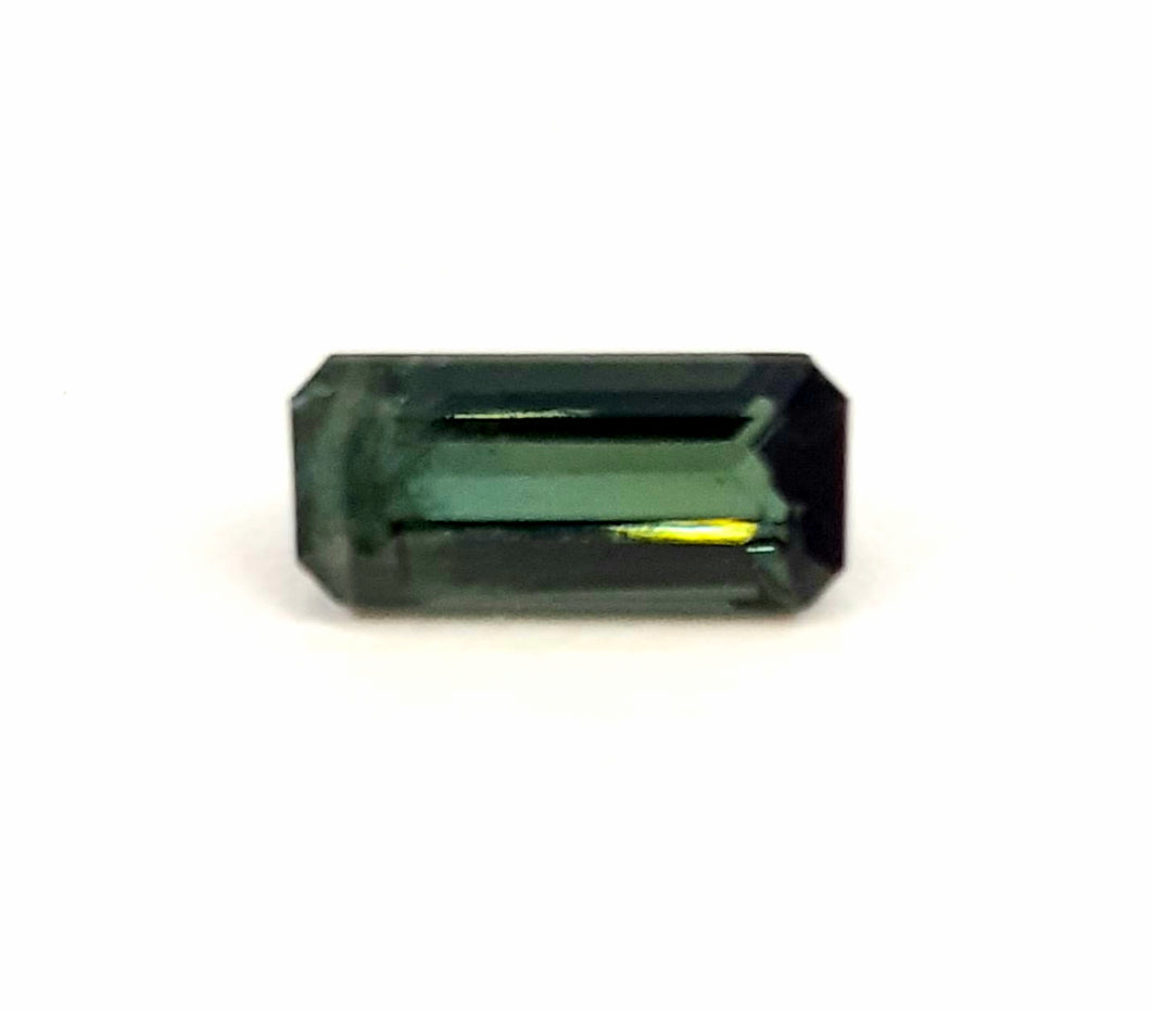 Dazzling natural green tourmaline gemstone loose octagon cut - Redstargems