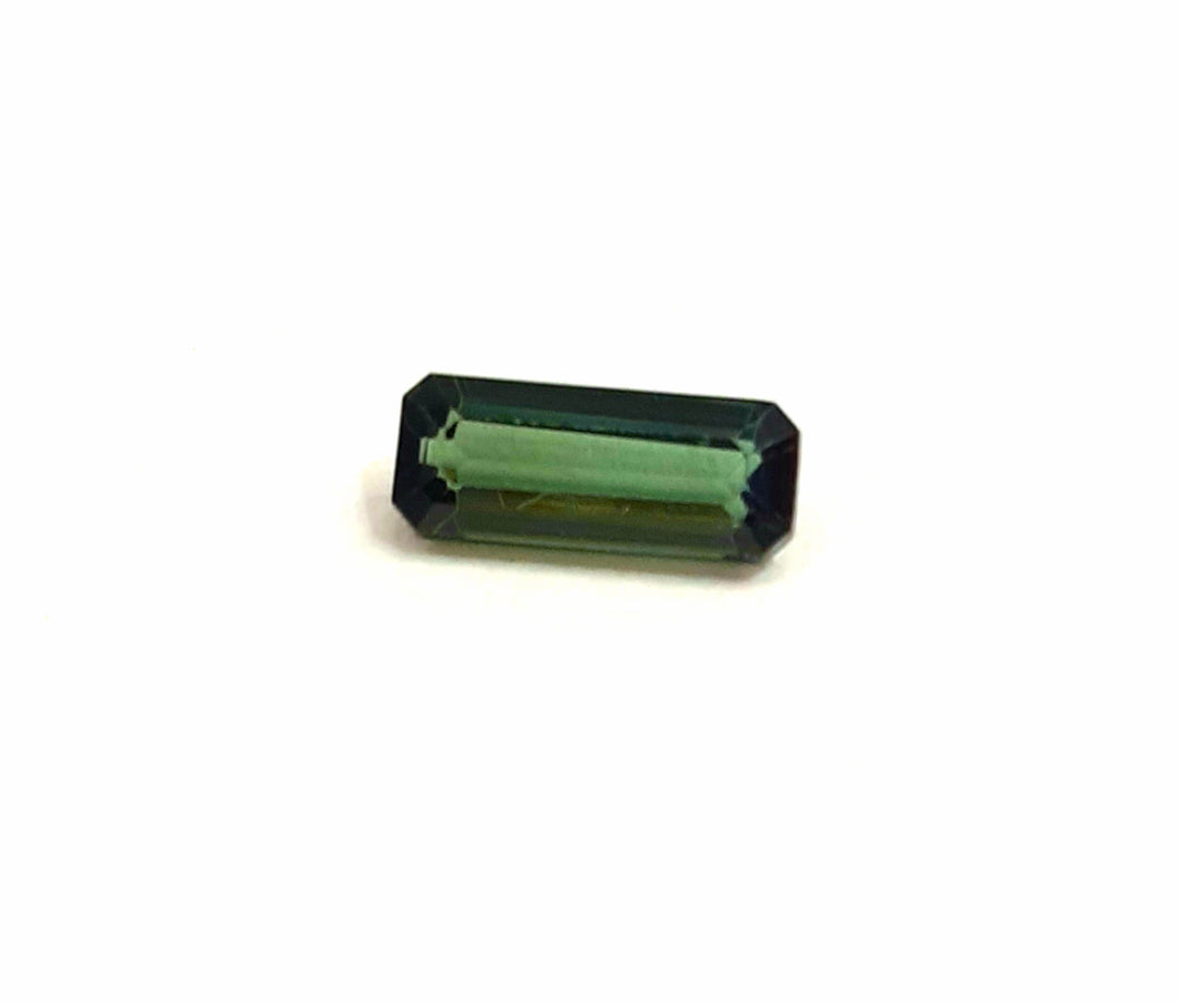 Natural octagon cut green tourmaline loose gemstone - Redstargems