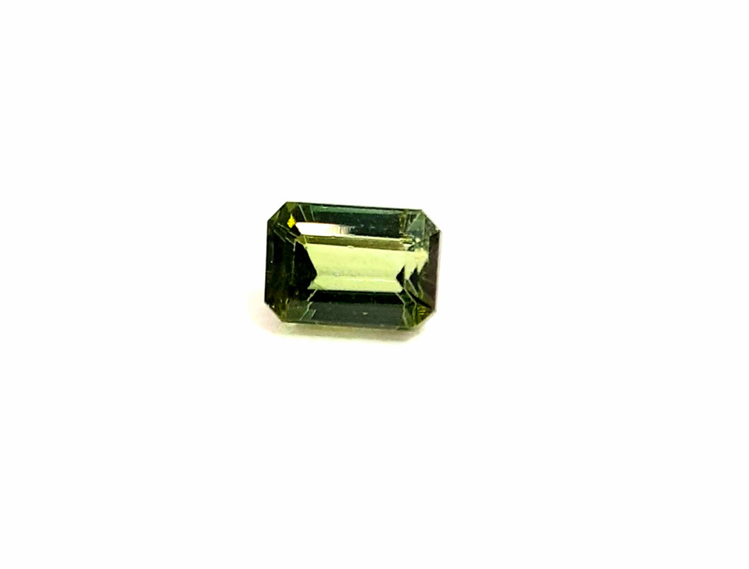 Tourmaline gemstone yellowish green 1.00 carat emerald cut - Redstargems