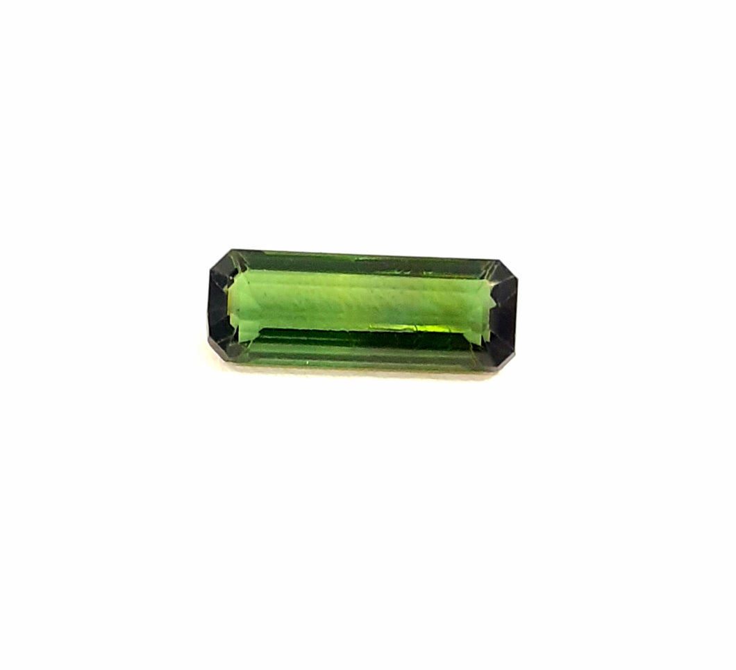 Spectacular natural green tourmaline loose gemstone stick - Redstargems