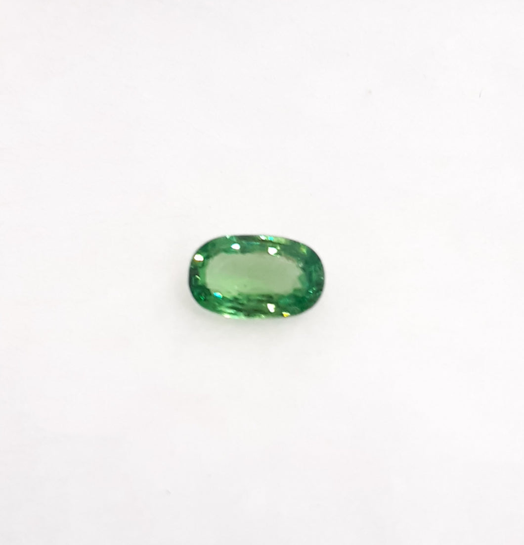 Green Tsavorite Gemstone Loose Oval Shape 0.85 Carats - Redstargems