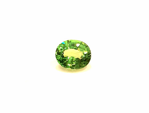 Oval faceted green tsavorite garnet gemstone 6 x 5 mm - Redstargems