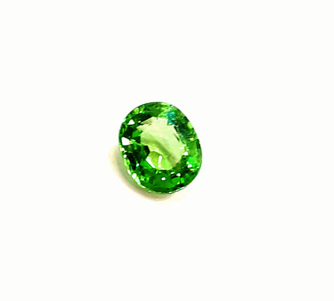 Tsavorite garnet gemstone loose 0.90 carats oval shape - Redstargems