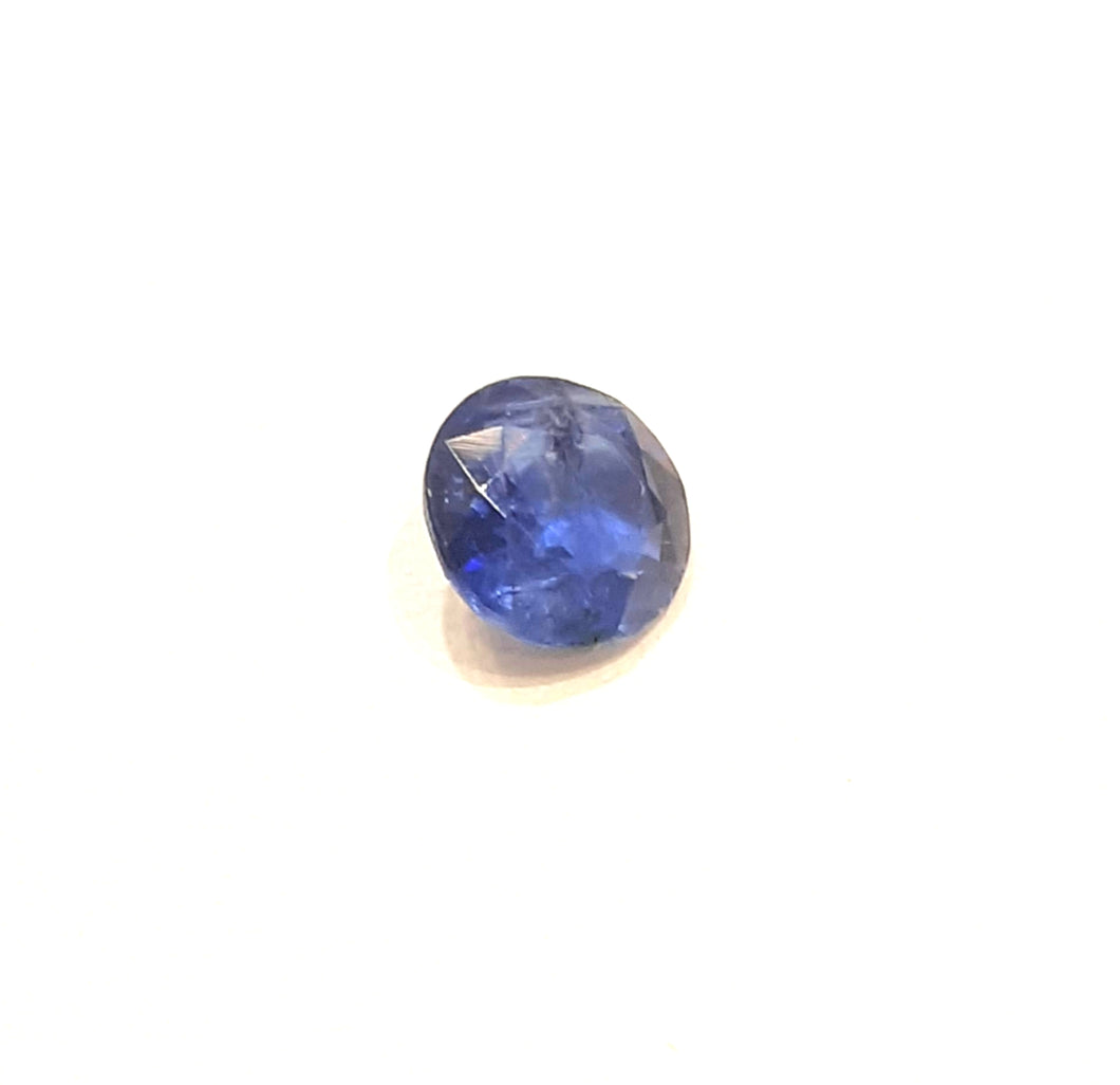 Round faceted deep blue color kyanite gemstone 6mm - Redstargems