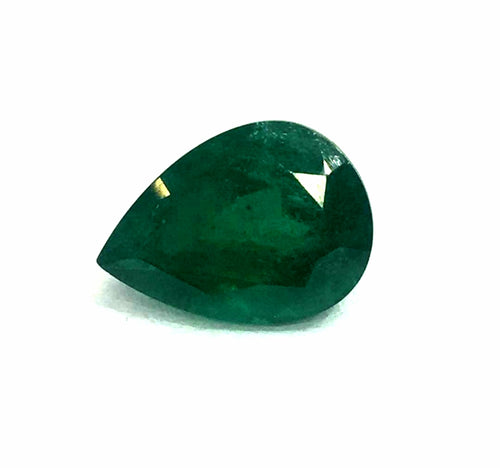 Natural Emerald Gemstone Pear Shape 5.55 Carats - Redstargems
