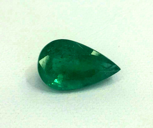 Emerald Pear Shape 4.20 Carats From Zambia Loose Gemstone - Redstargems