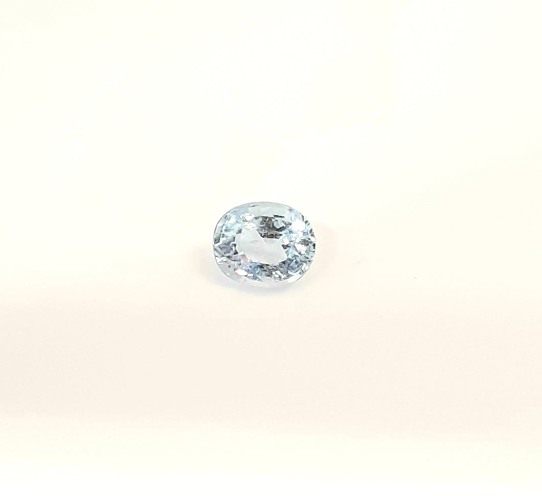 Aquamarine Loose Gemstone 6 x 5 mm oval faceted - Redstargems