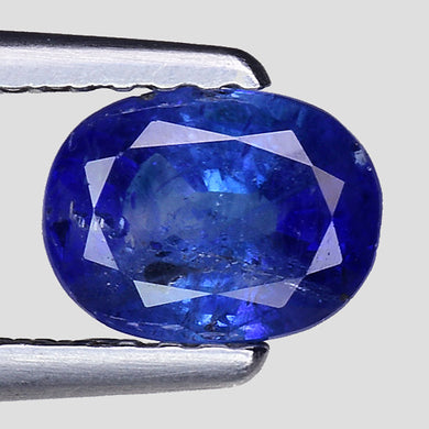 Natural blue sapphire gemstone 1.05 carats oval faceted
