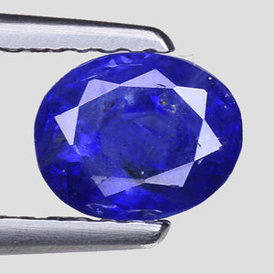 Natural blue sapphire gemstone 1.10 perfectly saturated blue - Redstargems