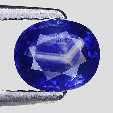 Blue sapphire gemstone loose oval cut 0.95 carats