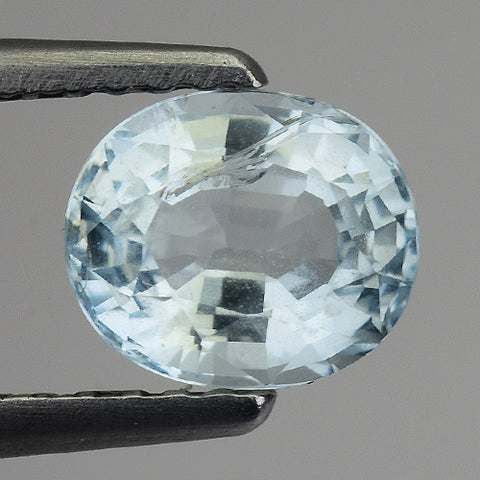 Fascinating Natural Aquamarine Loose Gemstone 6 x 5 MM - Redstargems