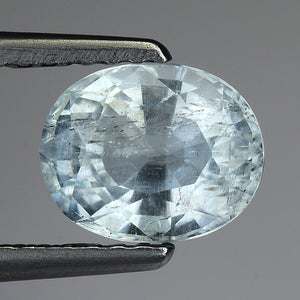 Remarkable Natural Aquamarine Loose Gemstone 1.25 Carats 7 x 6 MM - Redstargems
