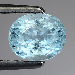 Blue Aquamarine Loose Gemstone 1.15 Carats 7 x 5 MM Special Piece - Redstargems