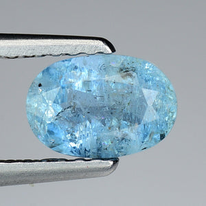 Aquamarine gemstone 0.85 carats blue color 7 x 5 mm - Redstargems