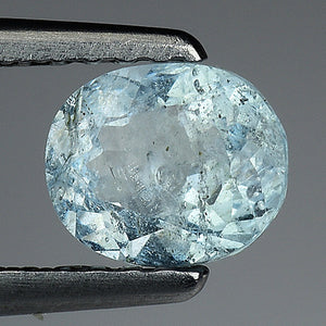 Aquamarine gemstone loose oval 0.50 carats 6 x 5 mm - Redstargems