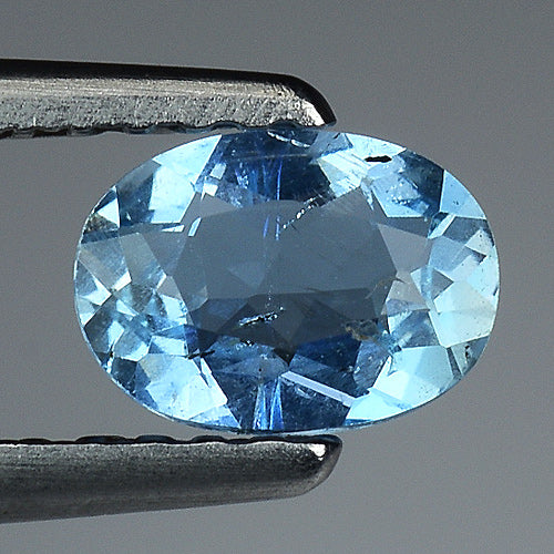 Aquamarine gemstone blue 0.35 carats 6 x 4 mm - Redstargems
