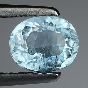 Aquamarine gemstone loose 0.75 carats oval 6 x 5 mm - Redstargems