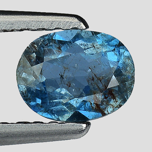 Aquamarine gemstone 0.65 carats santa maria color 6 x 4 mm - Redstargems