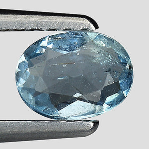 Aquamarine gemstone oval 0.45 carats 6 x 4 mm - Redstargems