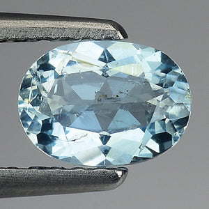 Aquamarine gemstone oval 0.65 carats 6 x 4 mm loose - Redstargems