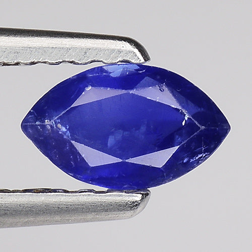 Blue sapphire gemstone loose 0.55 carats 6 x 3 mm marquise cut - Redstargems