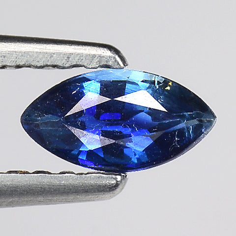 Bi color sapphire marquise 0.35 carats blue green loose gemstone - Redstargems