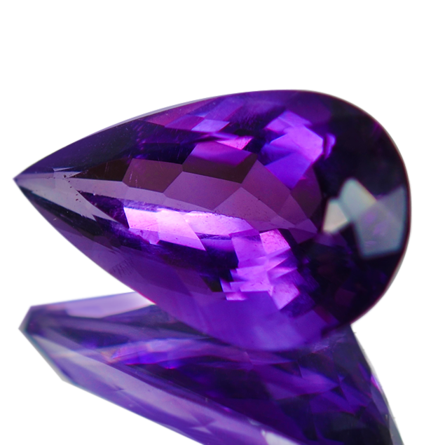 Amethyst Gemstone Pear Shape Purple Colour 13.5 Carats - Redstargems