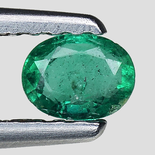 Natural emerald gemstone 0.30 carats oval faceted - Redstargems