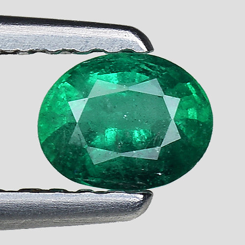 Emerald gemstone oval shape 0.30 carats loose gem - Redstargems
