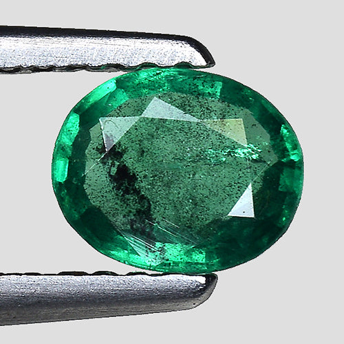 Natural emerald gemstone 0.40 carats oval faceted - Redstargems