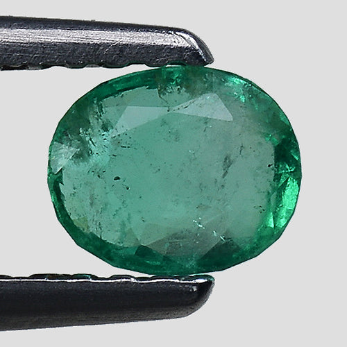 Natural luxcious green emerald 0.45 pure oval shape - Redstargems