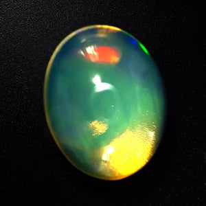 Natural Opal Cabachon With Unique Play Of Colors - Redstargems