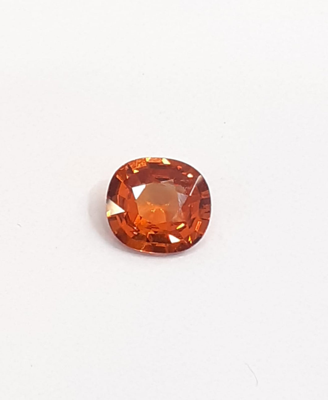 Natural spessarite garnet orange gemstone cushion cut - Redstargems