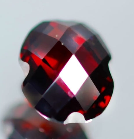 Garnet Loose Gemstone Custom Cut With Check board Facets - Redstargems