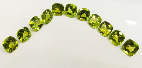 Natural peridot gemstone lot cushion cut 26.30 carats lot