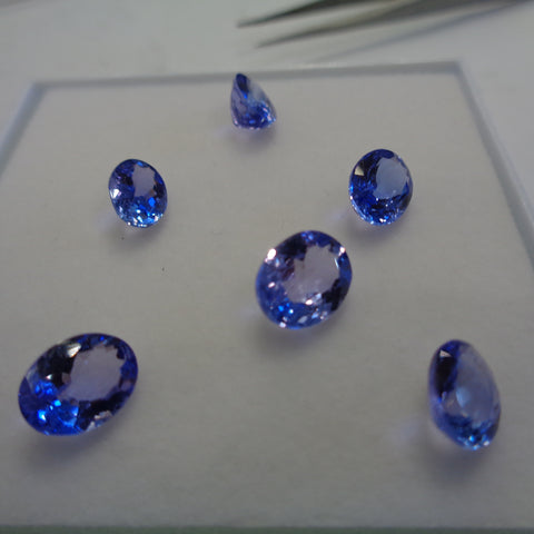 AAA Tanzanites Oval Shape 2 Carat Sizes Each - Redstargems