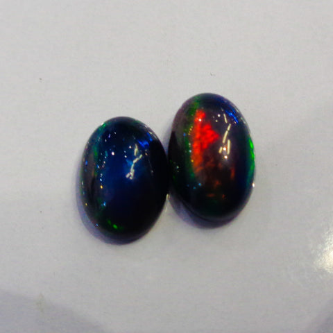 Black Opal Pair Top Quality Gemstones - Redstargems