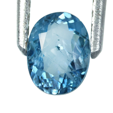 Load image into Gallery viewer, Saturated blue color aquamarine gemstone 0.60 carats unique piece - Redstargems