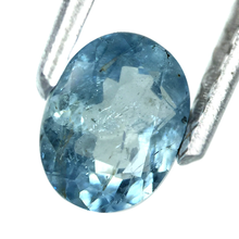 Load image into Gallery viewer, Aquamarine gemstone oval shape 0.70 Carats aqua blue color - Redstargems