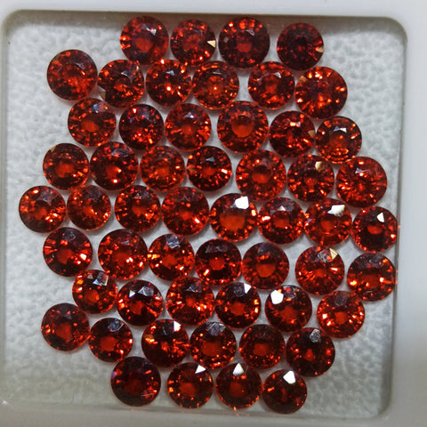 Natural spessartite garnet gemstone lot round 5 to 5.5mm wholesale as a total lot